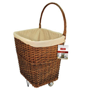 Wicker Fire Cart